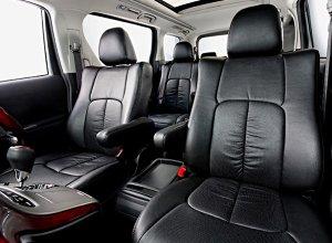 画像1: 【ホンダ アコードワゴン CF6/CF7/CH9】Clazzio・クラッツィオ 車種専用シートカバー 本革パンチングタイプ