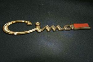 画像2: エンブレム ゴールドメッキ【ニッサン シーマY33】リア2点セット(Cima、V8)