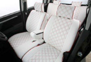 画像2: 【ホンダ N-BOX プラス JF1/JF2】Clazzio・クラッツィオ 車種専用シートカバー キルティングタイプ 1台分セット