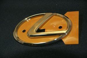 画像3: レクサスエンブレム 【ゴールドエンブレム Lマーク 大 125×85mm】 LEXUS 正規ディーラー品