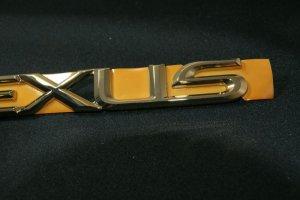 画像3: レクサス【トヨタ セルシオ UCF30/UCF31 後期】正規ディーラー品 ゴールドメッキエンブレム LEXUS・レクサス ロゴ  195mm×24mm