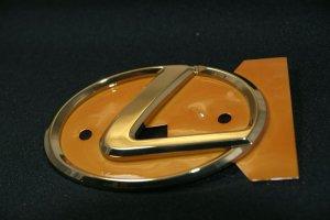画像1: レクサスエンブレム 【ゴールドエンブレム Lマーク 大 125×85mm】 LEXUS 正規ディーラー品