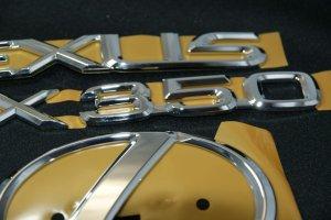 画像4: レクサスエンブレム3点セット 【30系ハリアー 後期 】 正規ディーラー品  クローム リアレクサスLマーク・RX350・LEXUSロゴ