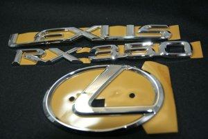 画像1: レクサスエンブレム3点セット 【30系ハリアー 後期 】 正規ディーラー品  クローム リアレクサスLマーク・RX350・LEXUSロゴ