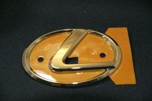 画像1: レクサス【ゴールドメッキ レクサスLマーク 中 100mm×72mm】正規ディーラー品