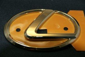 画像2: レクサスエンブレム 【ゴールドエンブレム Lマーク 大 125×85mm】 LEXUS 正規ディーラー品