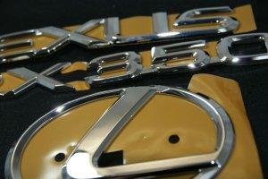 画像2: レクサスエンブレム3点セット 【30系ハリアー 後期 】 正規ディーラー品  クローム リアレクサスLマーク・RX350・LEXUSロゴ