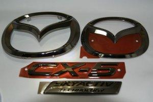画像2: ブラックメッキ【マツダ CX-5 KE2FW/KEEFW】エンブレム4点セット(フロントグリル用マツダマーク、リアマツダマーク、CX-5、スカイアクティブプレート)