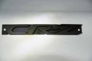 画像2: 【マットブラック(艶消し)エンブレム】ホンダ CR-Z ZF1 3点セット/単品(フロントグリル用ホンダマーク、リアホンダマーク、CR-Z)