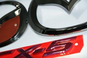 画像5: エンブレム ブラックメッキ・レッドメッキ【マツダ CX-5 KE2FW/KEEFW】3点セット(グリル用マツダマーク、リアマツダマーク、CX-5ロゴ)