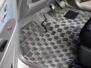 画像3: 送料無料【トヨタ アルファード/ヴェルファイア20系 後期 H23.11〜】マットワールド 車種専用フロアマット ヒールパット付 デラックスシリーズ・アスリート 1台分セット