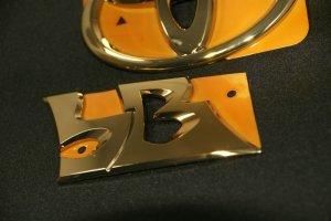 画像3: 送料無料 ゴールドメッキエンブレム【トヨタ bB QNC】リア2点セット (bBロゴ、リアトヨタマーク)