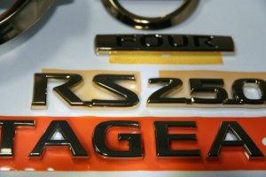 画像5: 最高級ゴールドメッキエンブレム【ニッサン ステージア NM35】 6点セット(フロントニッサンマーク、リアニッサンマーク、ステージア、250t、RS、FOUR)