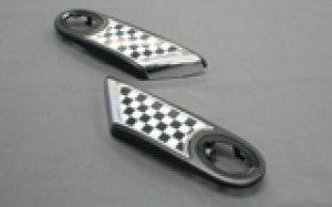 画像1: サイドランプリム 【BMW ミニクーパー R55/R56】チェッカー 左右セット
