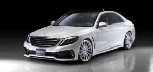 画像1: WALD【Mercedes Benz・ベンツ S-Class W222 2013y〜】ヴァルド・エアロパーツ FRP製 Sports Line Black Bison Editon・ブラックバイソンエデイション 3点KIT/単品 (フロントバンパースポイラー・サイドステップ・リアバンパースポイラー