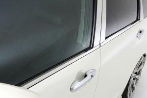 画像1: 送料無料【トヨタ ヴェルファイア 20系】グロウ  ステンレスドアモール  鏡面HYPER  シルバー 4Pセット