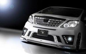 画像4: 【トヨタ アルファード GGH・ANH・ATH20 S/SR 後期 2011.12〜】TOMMYKAIRA・ROWEN・ロエン プレミアムエディション フロントスポイラー(LEDスポットあり) 塗装品