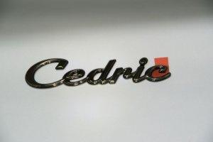 画像1: ブラックメッキエンブレム【ニッサン セドリック Y33】Cedric・セドリックロゴ