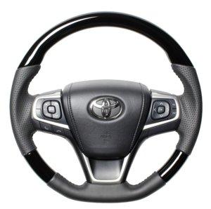 画像1: ステアリング 【トヨタ 50系エスティマ 4型】 REAL・レアル ウッド&カラータイプ オリジナルシリーズ