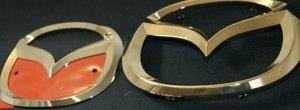 画像2: エンブレム 最高級ゴールドメッキ 【CX-5 KE2FW/KEEFW】 2点セット フロントグリル用マツダマーク・リアマツダマーク