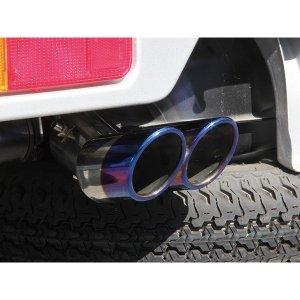 画像1: 汎用マフラーカッター 軽自動車・小型車用 【デュアルチタン】 アクティ HA8/HA9 等 J-NEXT
