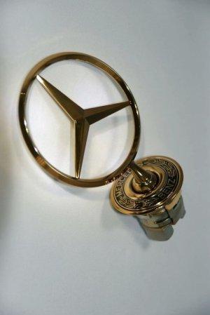 画像1: ボンネットマスコット 最高級ゴールドメッキ 【Mercedes-Benz メルセデス ベンツ】 エンブレム