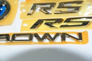 画像2: 最高級ゴールドメッキエンブレム 【トヨタ クラウン GWS224】 5点セット リアトヨタ(T)マーク、リアCROWNロゴ、リアHYBRIDSYNERGYDRIVEプレート、フロントグリル用RS・リアRS