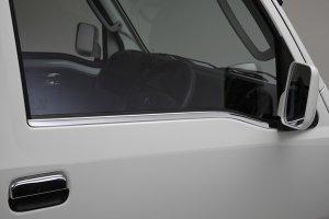 画像1: 鏡面サイドウィンドウトリム 【ハイゼットトラック、ハイゼットジャンボ共通  S500P/S510P ダイハツ】 ステンレス製 左右セット REIZ