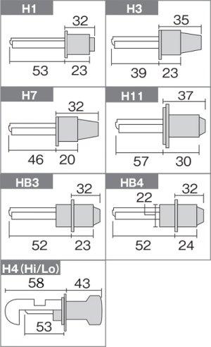 画像5: 35W【3000K シングルタイプH1/H3/H7/H8/H11/HB3/HB4】セレオス HIDフルキット